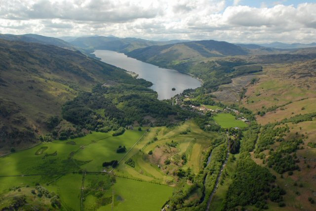 Aerialphoto of St Fillans