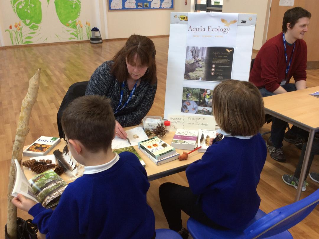 Andrea Hudspeth -Aquila Ecology with  Strathyre Primary School