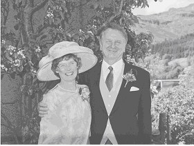 Catriona Oldham nee Fergusson with husband Lawrie Oldham